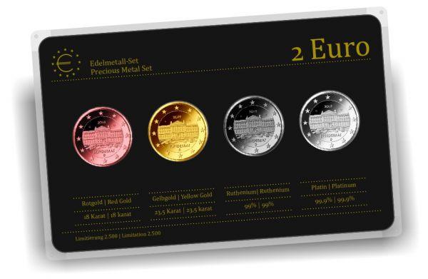 4x 2 € Edelmetall-Set Bundesrat
