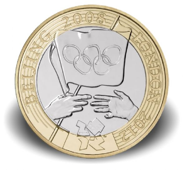 2 £ GB Olympic Games Handover Ceremony 2008 CN ST Blister