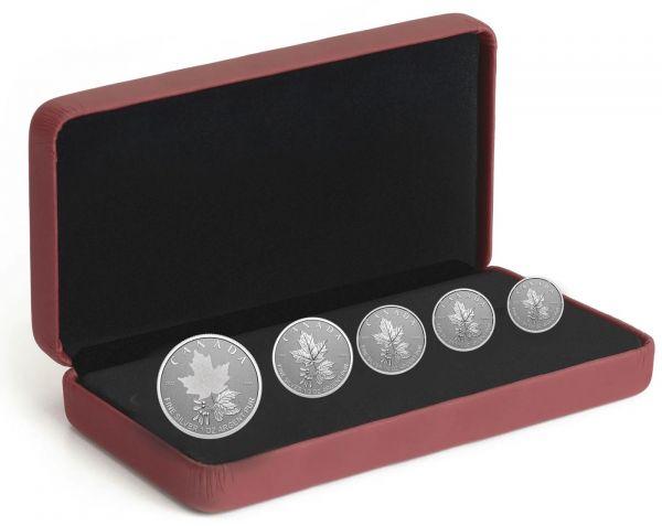 15 Dollar Kanada Maple Leaf Fractional Set 2022 Silber RP