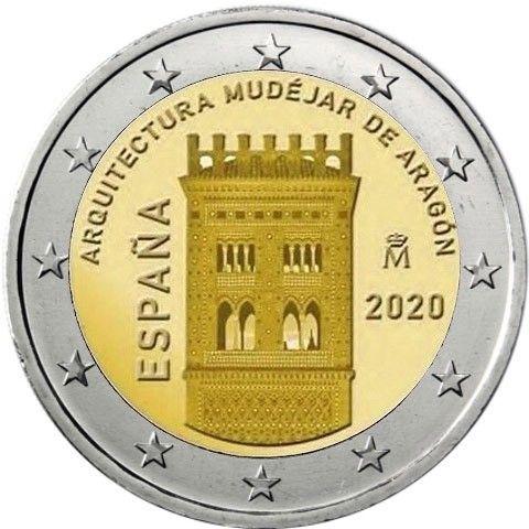 2 Euro Spanien Mudejar Architektur 2020 CN bfr