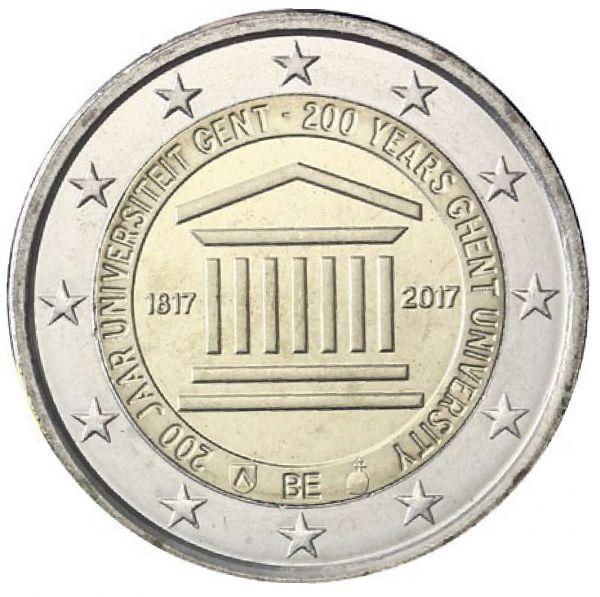 "2 € Belgien ""200 Jahre Universität Gent"" 17 CN St -Blister-"