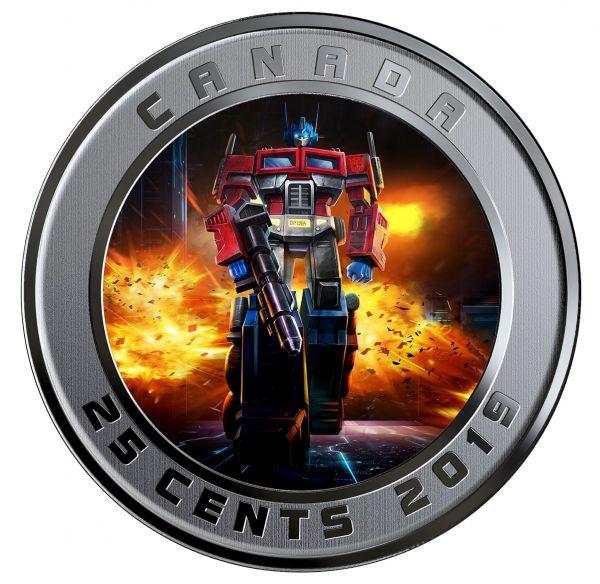 25 Cent Kanada Transformers - Optimus Prime 2019 CuNi St