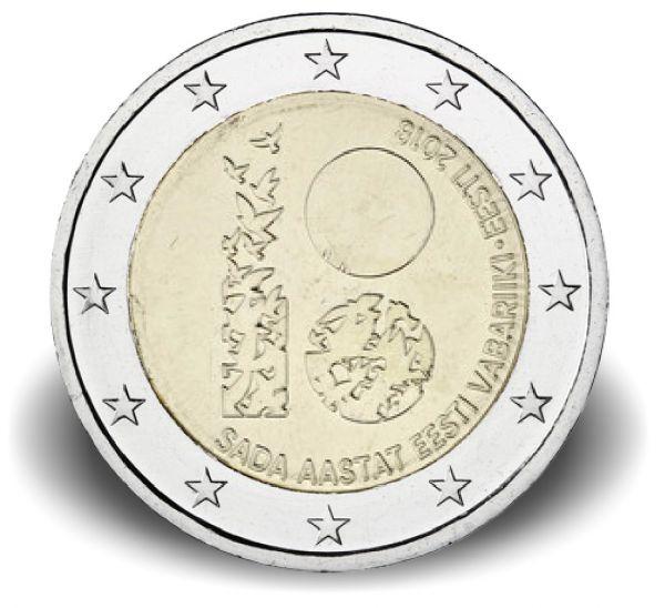 "2 € Estland ""100 J. Republik Estland"" 2018 CuNi bfr"