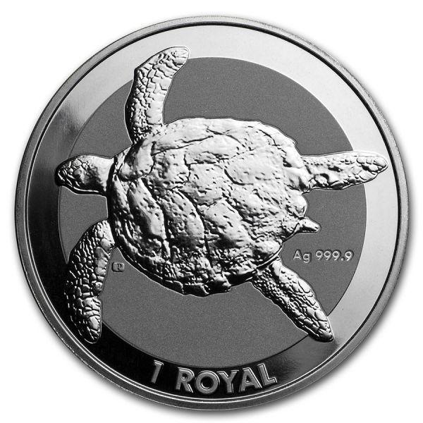 1 Royal British Indian Ocean Territory - Schildkröte 2020 Silber St