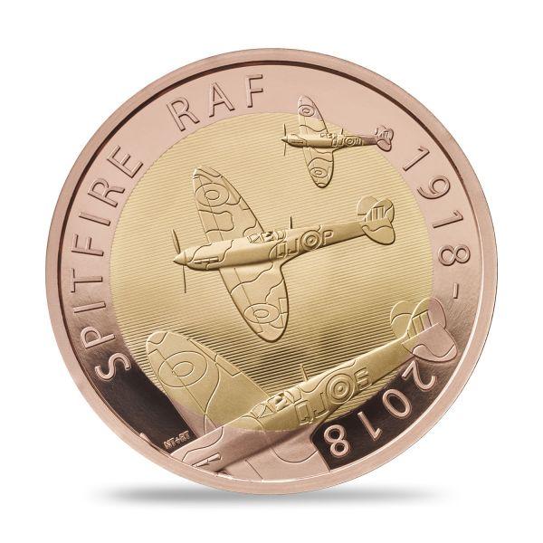"""2 £ Großbrit. """"Royal Air Force - Spitfire"""" 2018 Gold PP"""