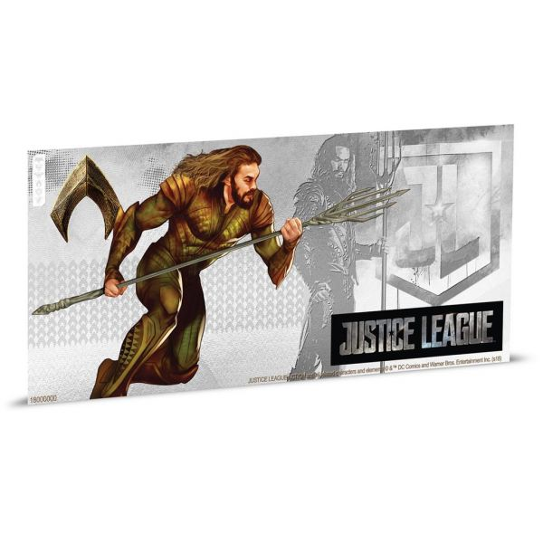 "1 Dollar Niue ""Justice League - Aquaman"" Banknote 2018 Ag St"