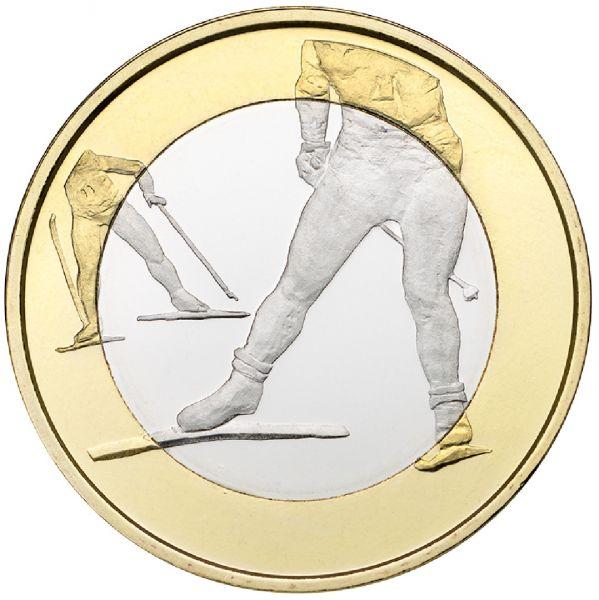 """5 € Finnland Sportserie """"Skifahren"""" 2016 CN St"""