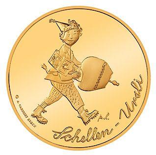 """50 CHF Schweiz """"Schellen-Ursli"""" 2011 Gold PP"""
