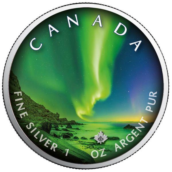5 Dollar Kanada Polarlichter - Whitehorse 2020 Silber St