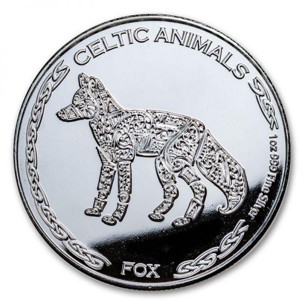 500 Francs Tschad Fuchs 2019 Silber St