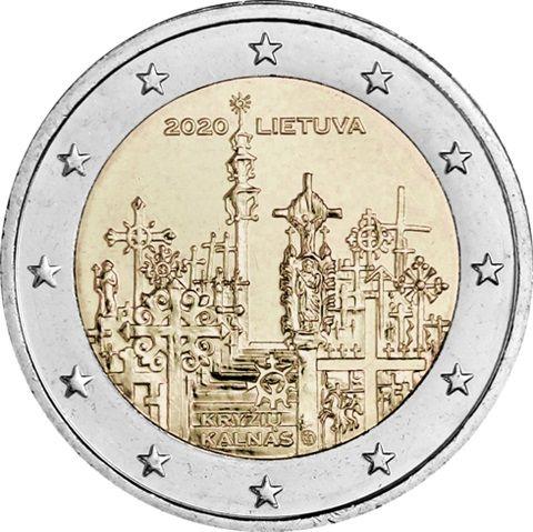2 Euro Litauen Berg der Kreuze 2020 CN bfr