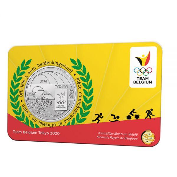 5 Euro Belgien Olympia Team Belgien 2021 CN St Coincard