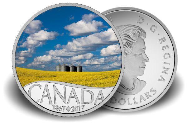 "10 $ Kanada ""Rapsfeld"" 2017 PP Ag -farbig-"