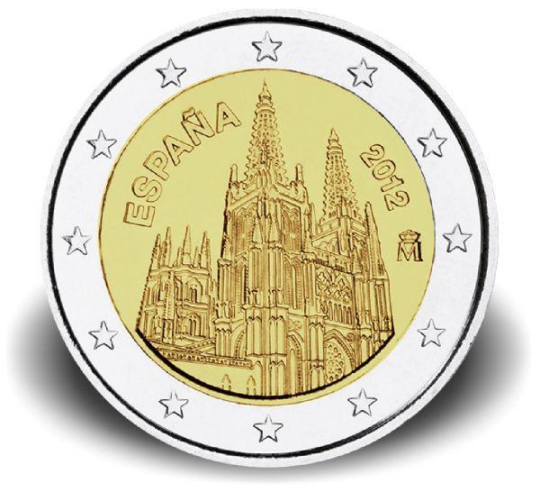 2 € Spanien Kathedrale von Burgos 2012 in Blister CN PP
