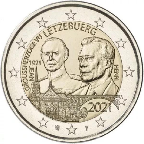 2 Euro Luxemburg 100. Geb. Großherzog Jean 2021 CN bfr