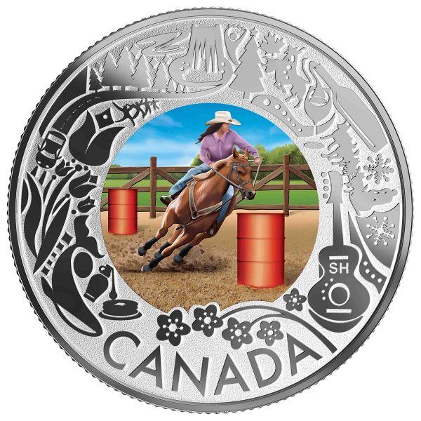 """3 $ Kanada """"Kan. Feste - Rodeo"""" 2019 Silber PP"""