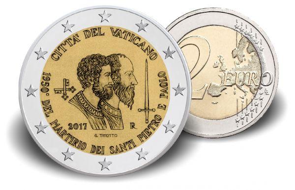 "2 € Vatikan ""1950 J. Martyrium St. Peter u. St. Paulus"" 2017 CN st"