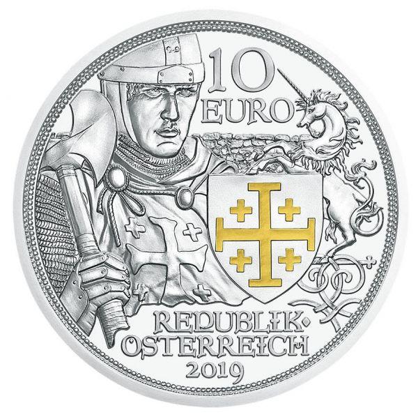 """10 € Österreich """"Abenteuer"""" 2019 Silber PP farbig"""