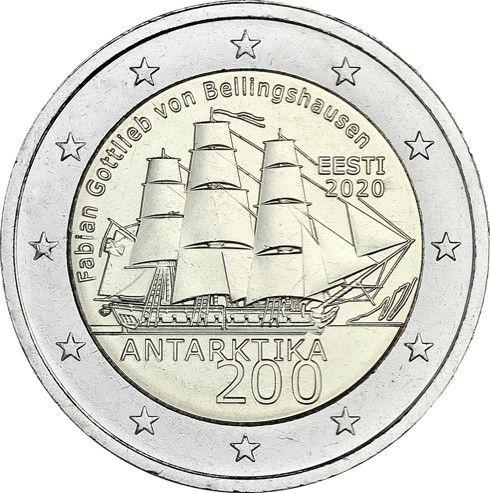 2 Euro Estland 200 J. Entdeckung der Antarktis 2020 CN bfr