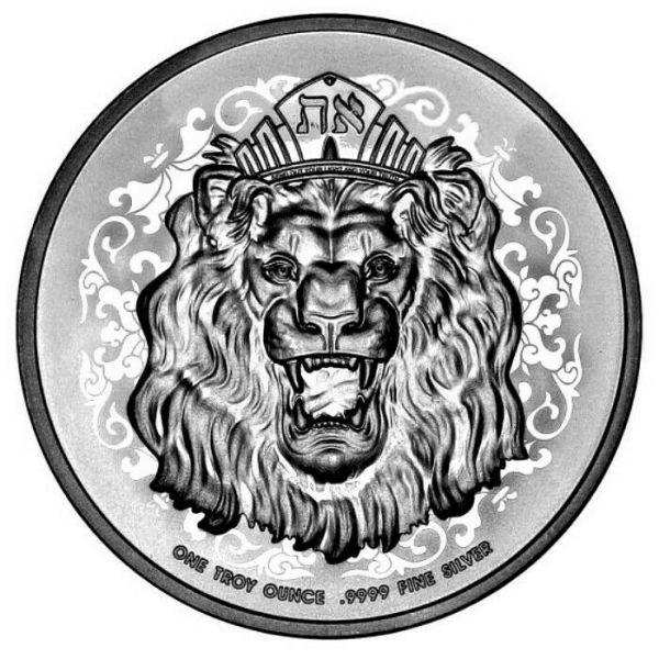 2 Dollar Niue Brüllender Löwe von Judah 2021 Silber St 1oz