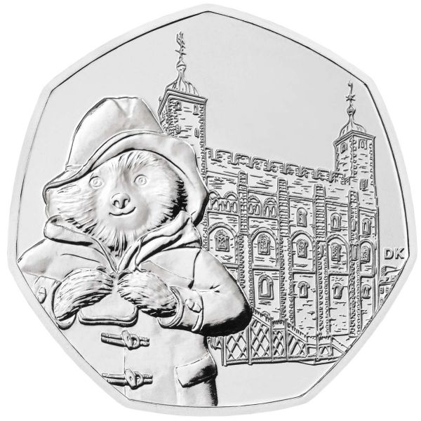 50 Pence Großbritannien Paddington Bär am Tower 2019 CuNi St
