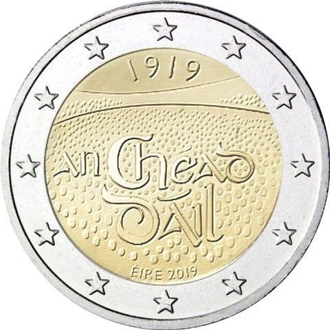 "2 € Irland ""100 J. Dail Eireann"" 2019 CuNi bfr"