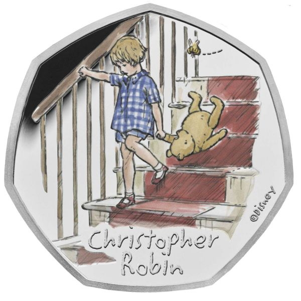 50 Pence GB Winnie Puuh - Christopher Robin #2 2020 Silber PP