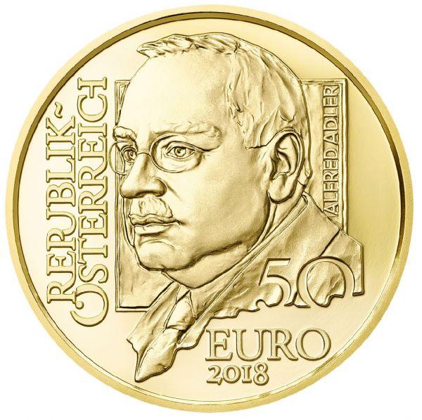"""50 € Österreich """"Alfred Adler"""" 2018 Au PP"""