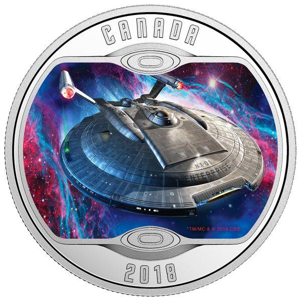 """10 $ Kanada """"Star Trek - Enterprise NX-01"""" 2018 Silber PP"""