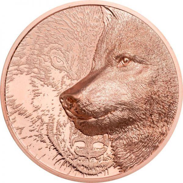 250 Togrog Mongolei Mystic Wolf 2021 Cu PL