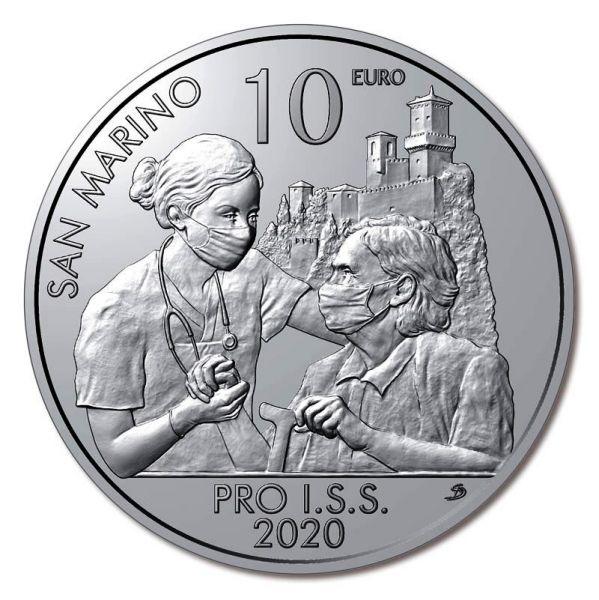 10 Euro San Marino Institut für soziale Sicherheit 2020 Silber St
