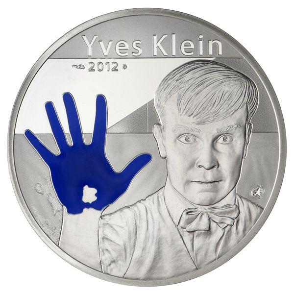 """10 Euro Frankreich """"Yves Klein"""" 2012 Ag PP"""