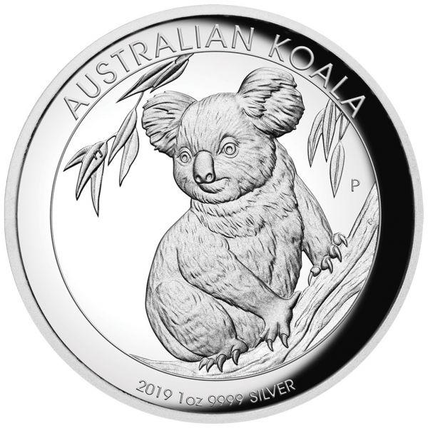 """1 $ Australien """"Koala"""" 2019 1oz Silber PP Highrelief"""