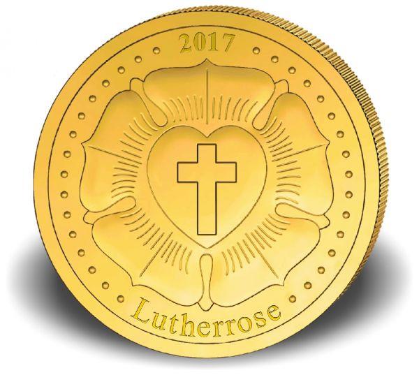 100 CFA Kongo Lutherrose 2017 Au PP 0,5g