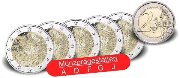 """5x2 € Deutschland """"30 J. Fall Berliner Mauer"""" 2019 CN bfr A-J"""
