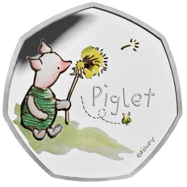 50 Pence GB Winnie Puuh - Ferkel #3 2020 Silber PP