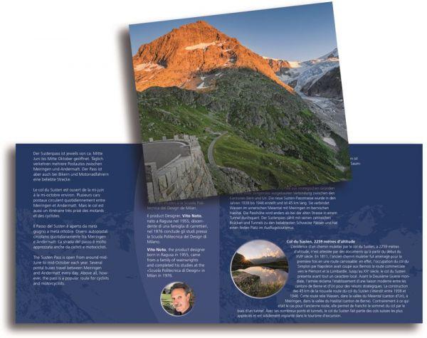 20 CHF Schweiz Sustenpass im Folder 2020 Silber St