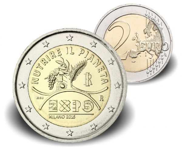 """2 € Italien """"Expo Mailand"""" 2015 CN -Etui- PP"""