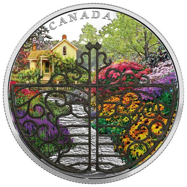 "30 $ Kanada ""Tor zum blühenden Garten"" 2017 2oz Ag PP"