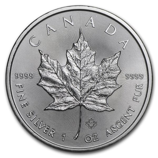 5 $ Kanada Maple Leaf 2019 1oz Silber St