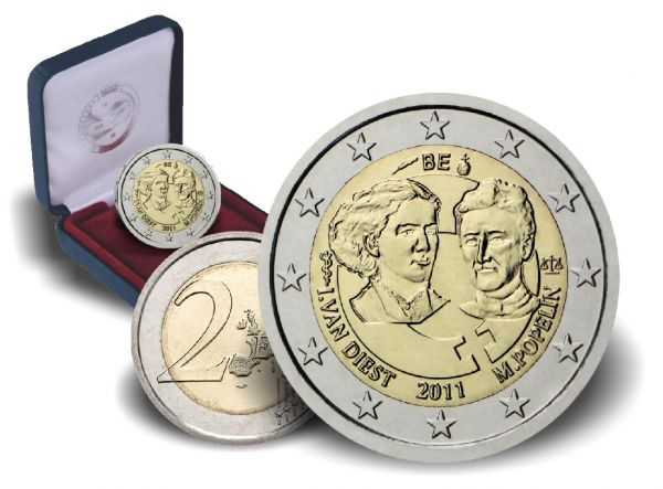 2 € Belgien 100. Internationaler Frauentag 2011 CN PP