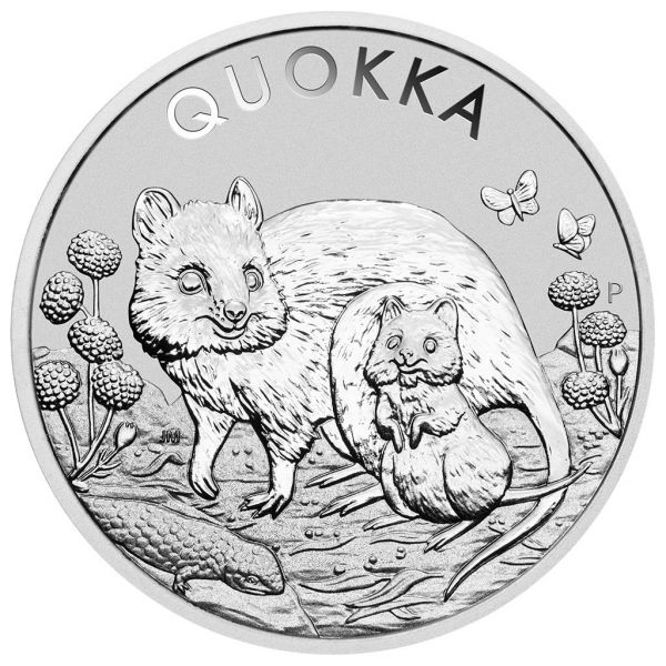 1 Dollar Australien Quokka 2021 Silber St