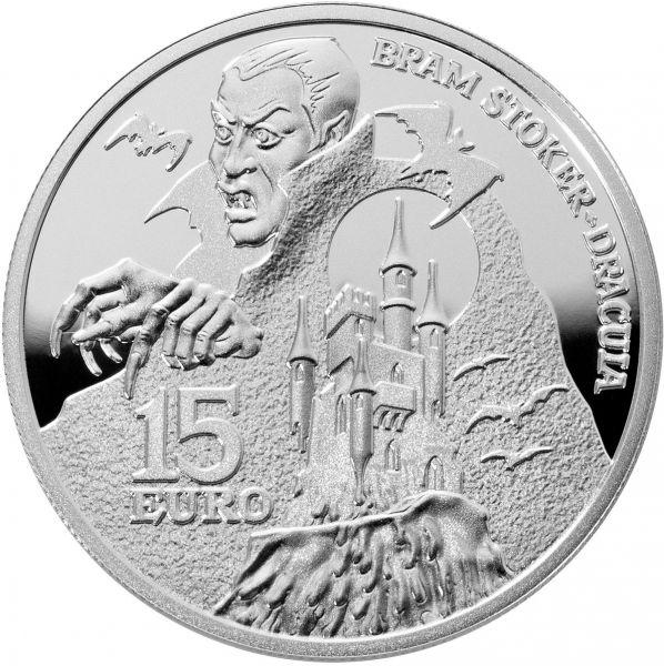 """15 Euro Irland """"Bram Stoker - Dracula"""" 2018 Silber PP"""