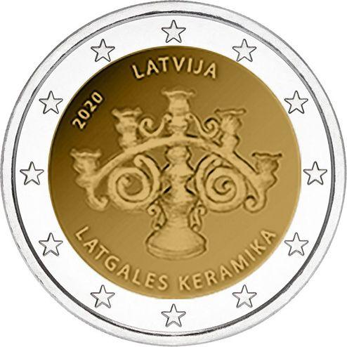2 Euro Lettland Lettgallische Keramik 2020 CuNi bfr