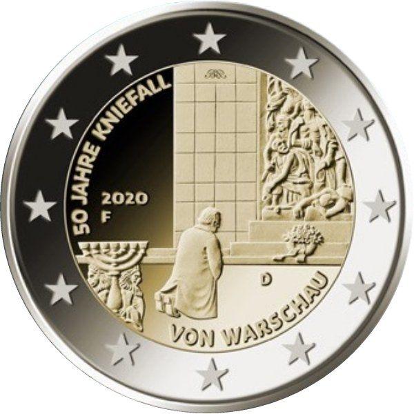 2 Euro Deutschland 50 J. Kniefall v. Warschau 2020 CN vz