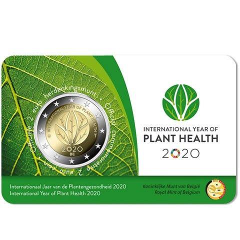 2 Euro Belgien Internat. Jahr der Pflanzengesundheit 2020 CN St -Blister-