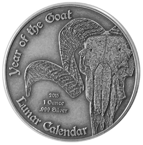 "1000 CFA Francs Kamerun ""Lunar Calendar - Goat"" 2015 Ag AF"