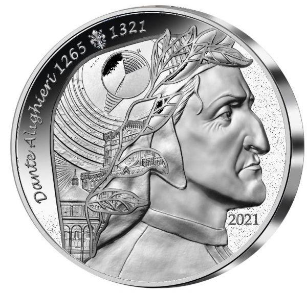20 Euro Frankreich Dante Alighieri 2021 Silber PP