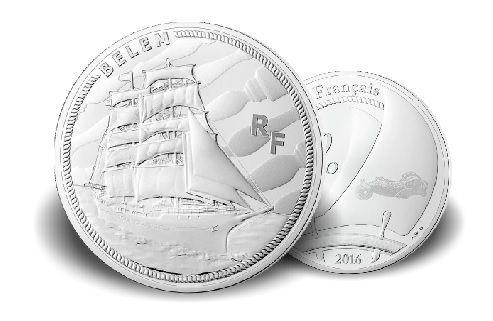 """10 € Frankreich Schiff """"Belem"""" 2016 Silber PP"""